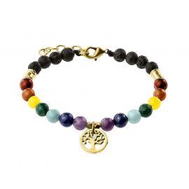 Armband 7 Chakra mit Lebensbaum