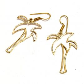Palmen Messing Ohrringe Ohrhänger