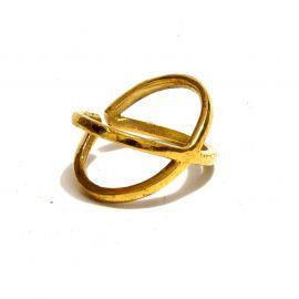 Moderner X Messing Ring