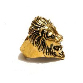 Löwen Kopf Messing Ring