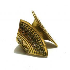 Indigener Ornament Messing Ring