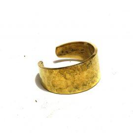 Hammerschlag Messing Ring