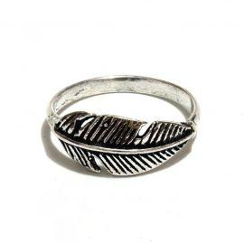 Schlichter Feder Messing Ring