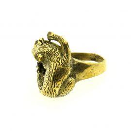 Katzen-Messing Ring