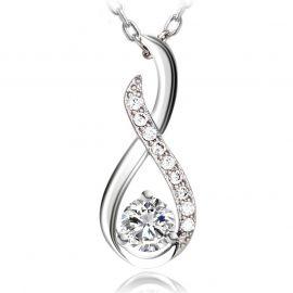 Damen Kette Silber 925 Infinity Twist