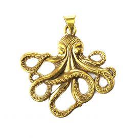 Oktopus Messing Anhänger
