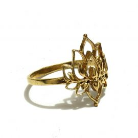 Lotus Messing Ring