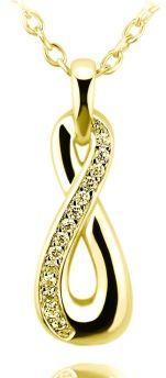 meranu infinity unendlichkeit anhänger zirkonia pavee vergoldet gold