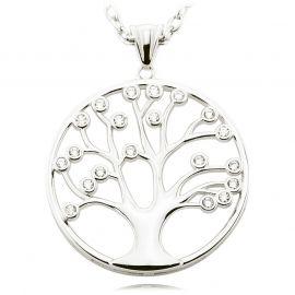 Lebensbaum Kette Silber 925 80cm
