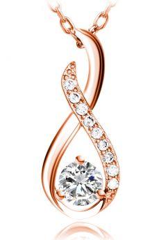 Kette Silber 925 Infinity Twist Rose